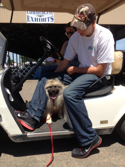 Ellie in Golf Cart 6.21.15